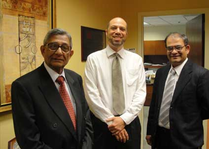 With Dr. Jeffery D. White (right) in Office of the Cancer Complimentary and Alternative Medicines, at NCI, USA