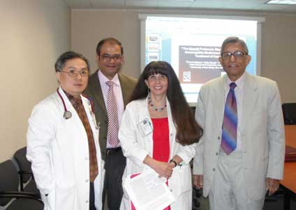 With Dr. Kurzrock and Dr. Siqing Fu at MDACC, USA